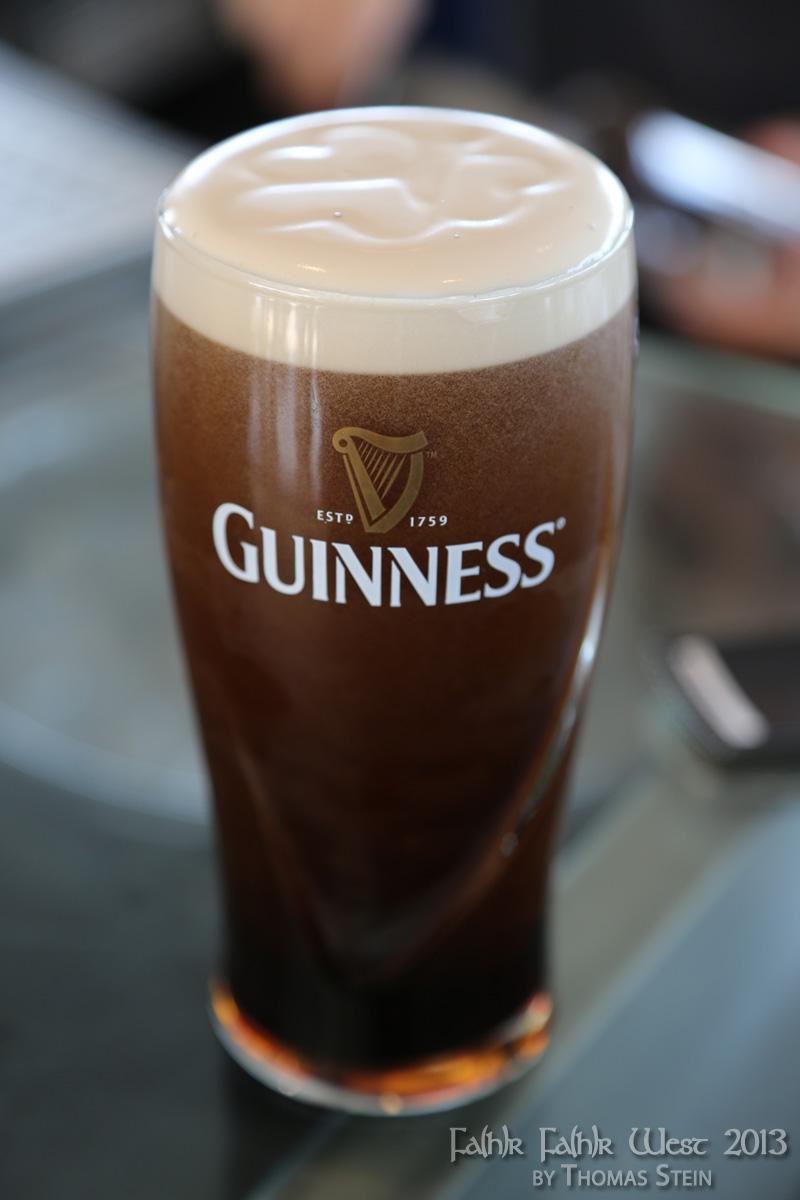 Ein perfekt gezapftes Guinness